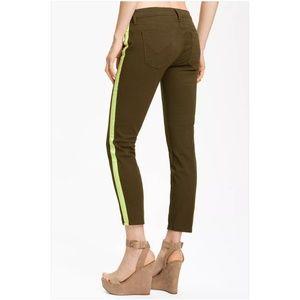 Hudson LouLou Tuxedo Stripe Crop Skinny Jeans